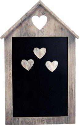 Sam's Stores Chic & Shabby lavagna/Lavagnetta magnetica, con 3magneti Cuore in Legno Carousel Home GI5146