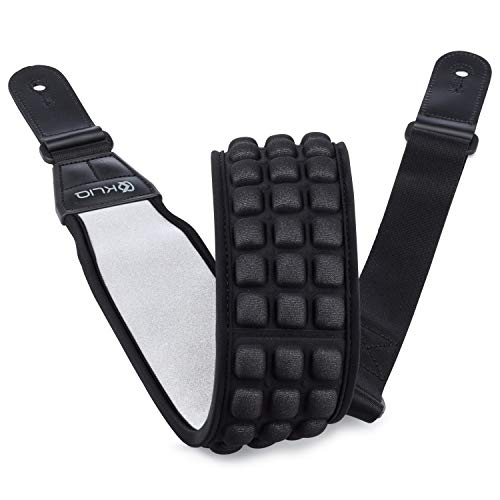 KLIQ AirCell Guitar Strap for Bass & Electric Guitar with 3