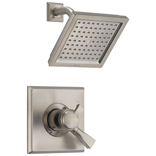 Delta Dryden Collection Stainless Steel Finish Monitor 17 Series Shower Faucet with Double Handle Control Includes Rough Valve with Stops (Series Double Handle)
