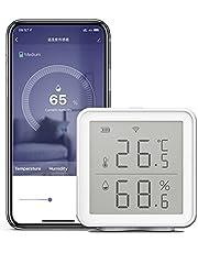 WiFi Smart temperatuurvochtigheidssensor, compatibel met Alexa Google Assistant, 230 voet, super lang bereik, draadloze digitale hygrometer, binnenthermometer, vochtmeter