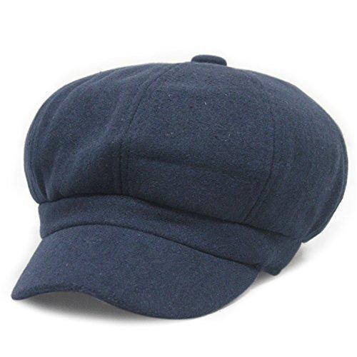 Angshanquh hat Woolen Caps Thick Velvet Beret Hat Octagonal Painter Hats - Reviews Painter