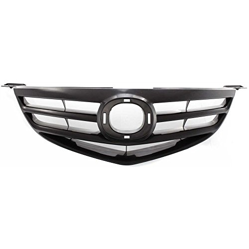 Evan-Fischer EVA17772028675 Grille for Mazda 3 04-06 Horizontal Bar Insert Black Sport Type (Mazda 6 Sports Sedan)