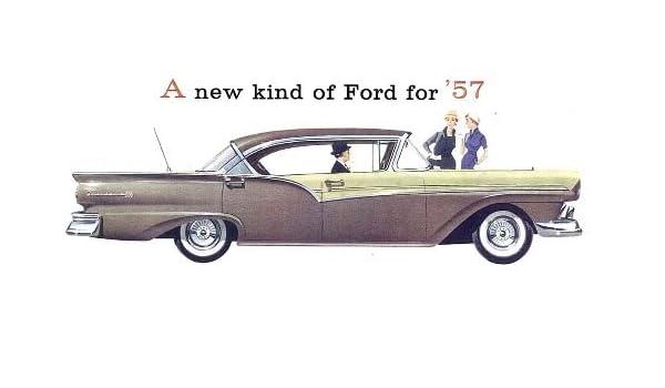 1957 FORD DEALERS SALES BROCHURE FOR Custom, Custom 300