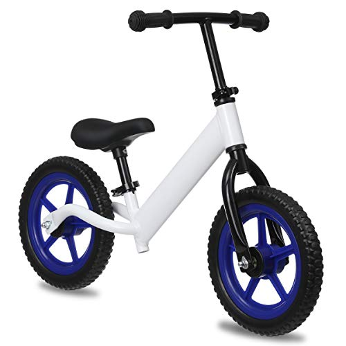 KingSo Kids Balance Bike Lightweight No Pedal Kids Bike with Adjustable Handlebar & Seat, Thickened Rubber Pneumatic Tyre Toddler Bike for 1-5 Years Boys Girls Stickers Included