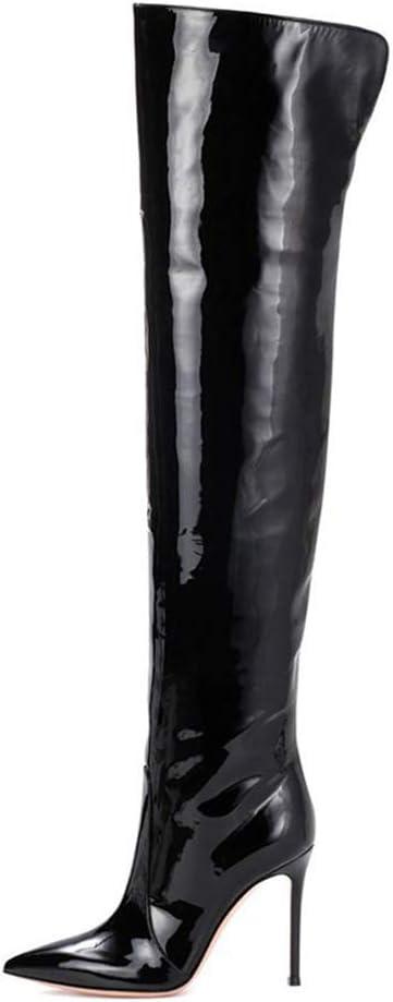 ZPLBOOTS Stivali Alti al Ginocchio Moda da Donna Stivali
