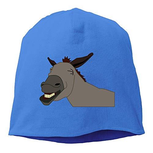Arsmt Beanie Hat Slouchy Knit Cap Skull Cap Funny Donkey Warm Cuff Watch Mens RoyalBlue
