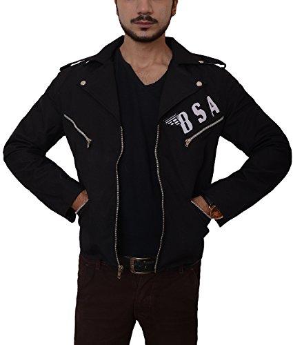 Motorcycle Biker Rockers BSA Bikers Jackets (Medium, Black) ()