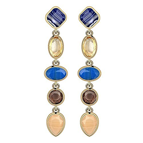 New Style Fashion Earrings Latest (Fashion Creative Colorful Crystal Women Earrings Set Chunky Teardrop Gemstone Drop Dangle for Girls - Style 4)