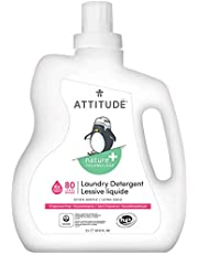 ATTITUDE Baby Laundry Detergent, Natural for Baby, Newborn or Infant, Hypoallergenic, Fragrance-Free, 35.5 Fluid Ounce, 35 Loads