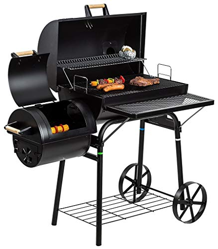 L&Y Outdoor Smoker BBQ Pit (Large) Grill Barbecue Rotisseries Outdoor Camping 32KG