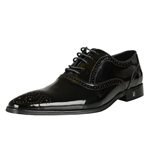 Versace Patent Leather - Versace Collection Black Patent Leather Oxfords Shoes US 7 IT 40; Shoes 823