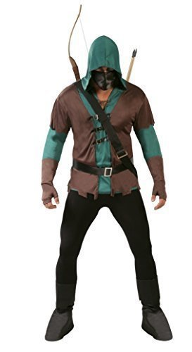Mens 5 Piece Dark Archer Robin Hood Halloween Fancy Dress Costume Outfit Size Large by Fancy (The Dark Archer Costume)