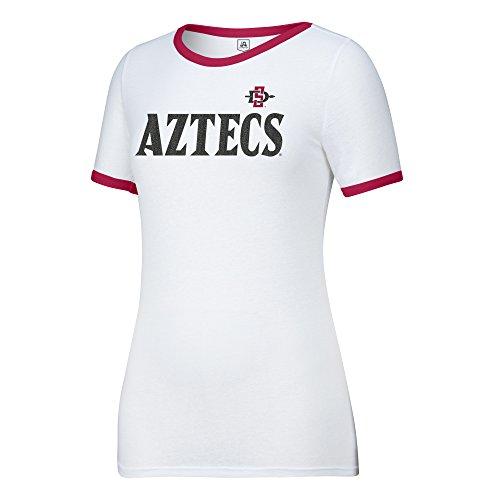 Womens Diego (NCAA San Diego State Aztecs Women's Make A Move Tee, XX-Large, White/Cardinal)