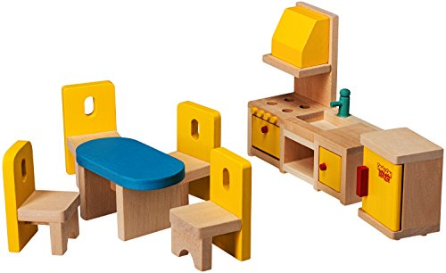 Dragon Drew Dollhouse Furniture – Dollhouse Accessories – Wooden Dollhouse Furniture Set (Kitchen and Dining Room Set)