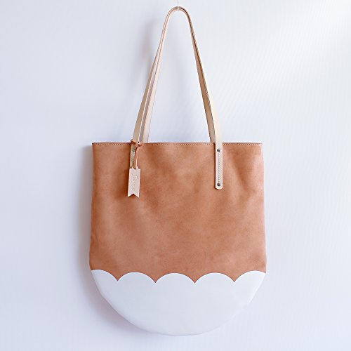Tulip Suede Tote, Peach Pink by Flowie