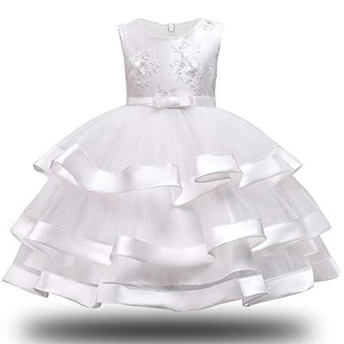 Girl Dress Party Birthday Wedding Princess Toddler Baby Girls Christmas Clothes Children Kids Girl Dresses,White,5 - Princess Hello Mirror Kitty
