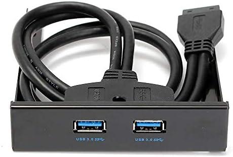 """DVDドライブ 3.5"""" PCコンピュータケースのフロントパネル2ポートのUSB 3.0フロッピードライブベイ2.5用のホルダと「HDD SSD CDドライブ (Color : Black, Size : One size)"""