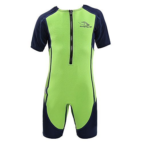 Aqua Sphere Stingray Short Sleeve Wet Suit, Green/Blue, Size 10 ()