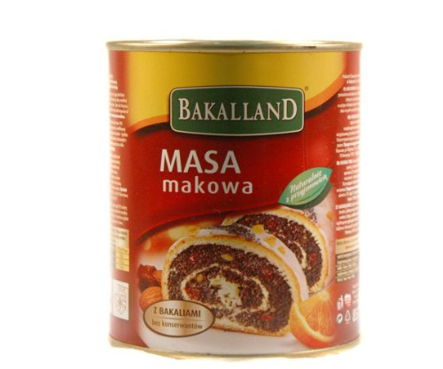 Bakalland Poppy Seed Filling (850g/ 1.9lbs) by Bakalland