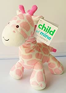 Carter's Child of Mine Pink/White Giraffe Rattle Plush Toy