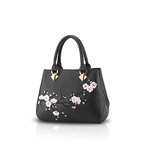 NICOLE&DORIS Casual Sweet Handbag Women Crossbody Shoulder Bag Purse Tote Commuter PU Leather Black
