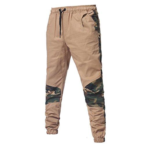 Kaki Pantalons Vêtements Lâche Sport Camouflage 4xl Pantalons Ceinture Adeshop Automne Pantalon Occasionnels De À Taille Élastique Hommes Nouveau Long M Mode Patchwork Tw4O1