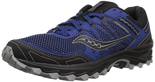 Saucony Men's Excursion TR12 Sneaker, Blue/Black, 9.5 M US