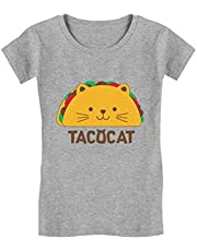 Tstars - Tacocat Spelled Backwards is Taco Cat Funny Girls' Fitted Kids T-Shirt