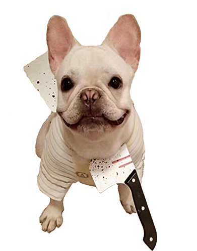 PetBoBo pet Dog Cat Head Funny Joke Trick Toy for Halloween party, Practical Jokes Gag Toys, Fancy Headband Butcher knife