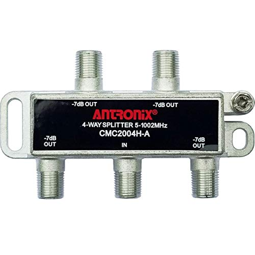 Antronix CMC2004H-A 4-Way Horizontal Splitter -7dB 5-1002 MHz High Performance for Coax Cable TV & Internet