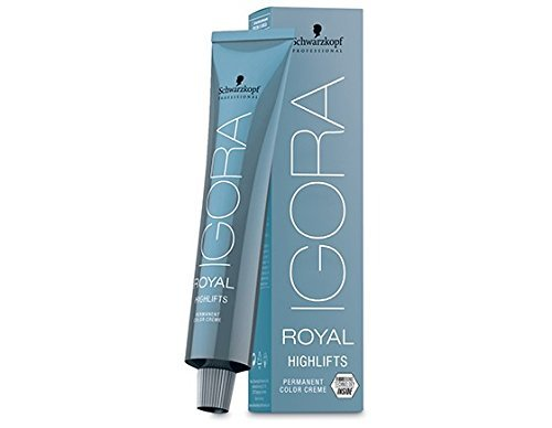 Price comparison product image Schwarzkopf IGORA ROYAL HIGHLIFTS Permanent Color Creme (10-1 Ultra Blonde Cendre)