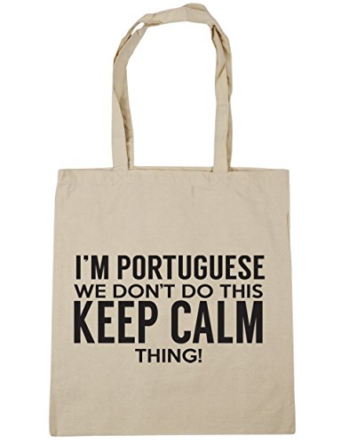 do x38cm 42cm thing we I'm keep Natural this calm don't 10 Bag Gym Beach litres Portuguese HippoWarehouse Shopping Tote xRI6Zq