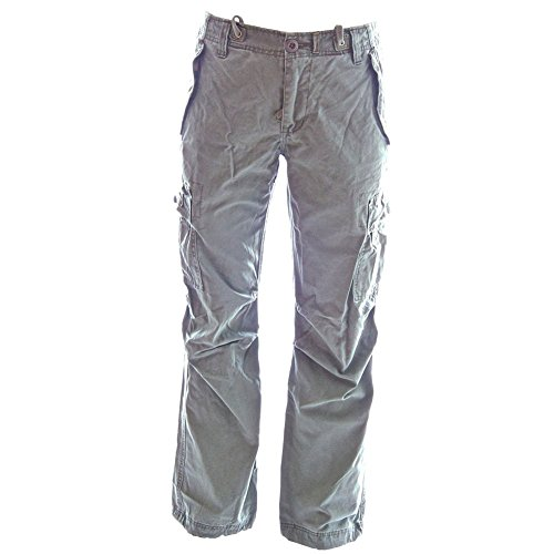 e-Belted Backpackers Cargo Pants - Loose Fit | USA 6/M (Tag M) Sunset Shadow Grey ()