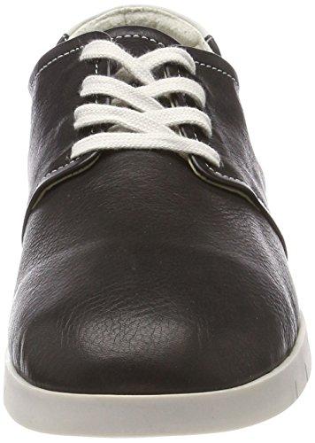 Softinos Herren Cap440sof Smooth Derbys Schwarz (Black/White)
