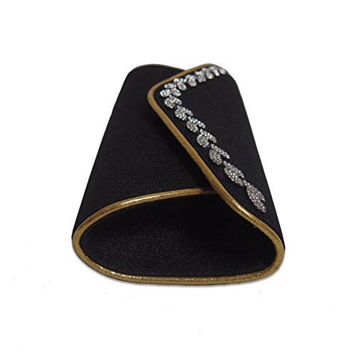 clutches strap evening shoulder sparkly with bags women's TOIHSUAN wedding rhinestones for Black qvFIIg