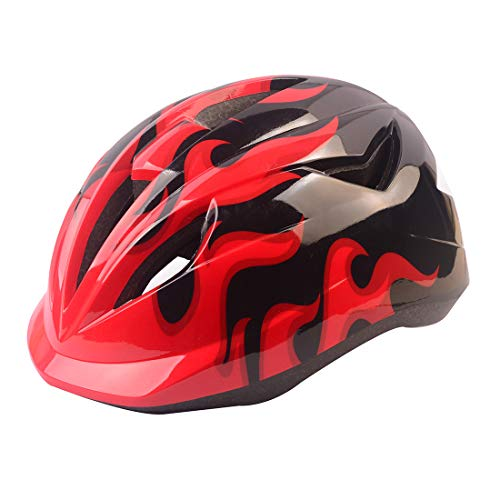 Kids Cranky Safety Helmet, Boys and Girls Safety Helmet for Roller Skating Skateboard BMX Scooter Cycling (Red)