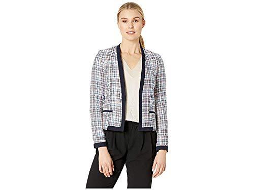 (Tommy Hilfiger Women's Novelty Tweed Open Jacket Bay Multi 4)