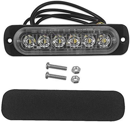 ACAMPTAR 12V 24 V 6 Lumi/ère LED Urgence Flash V/éhicule De Voiture Avertissement Stroboscopique Clignotant Bleu et Rouge