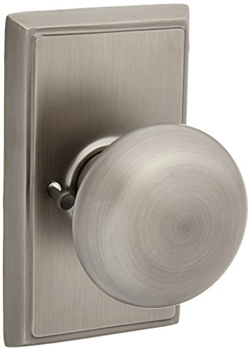 Providence Door Set with Round Brass Knobs Privacy in Antique Pewter. Doorsets.
