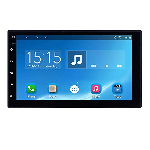 Harfey H605E Universal 2 DIN Car Stereo 7″ Android 6.0 GPS Navigation Touchscreen Car Radio Bluetooth Head Unit with WiFi/FM/AM/RDS/AUX/USB Receiver Audio Plug and Play