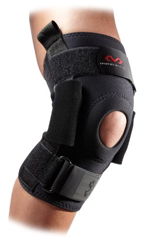 McDavid 428 Level 3 Knee Brace with Heavy Duty Polycentric Hinges (Black, Medium) by McDavid