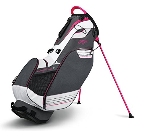 - Callaway 2018 Hyper Lite 3 Double Strap Stand Bag Titanium/White/Pink