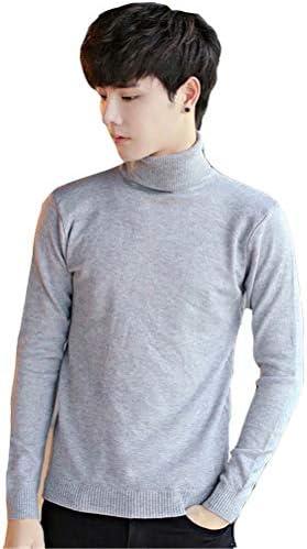 在庫処分セール ニットセーター メンズ ニット 長袖セーター プルオーバー トップス ハイネック カジュアルウエア