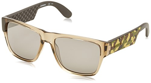 Carrera CA5002S Wayfarer Sunglasses, Gray Camel Sand & Black Mirror, 55 - Carrera Sunglasses