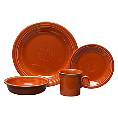 Fiesta 4-Piece Place Setting, Paprika