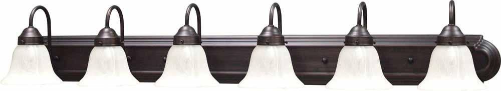 Volume Lighting V6456 Minster 6 Light 48'' Width Bathroom Vanity Light with Alaba, Florence Bronze by Volume Lighting