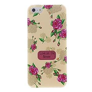 Patrón Rose hermosa funda protectora para el iPhone 5/5S