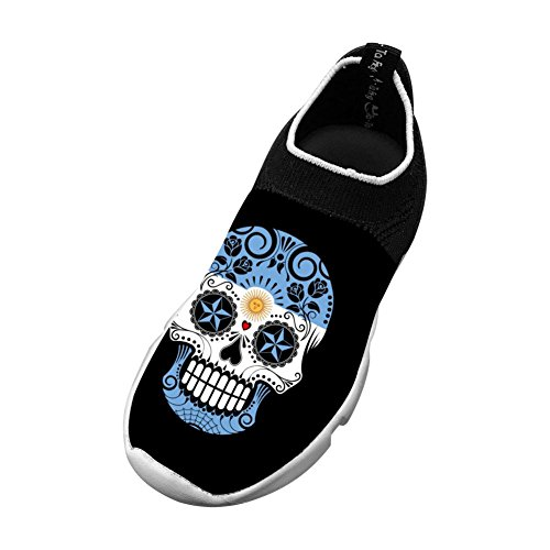 Vchat Fly knit Leisure Shoes Argentina Skull Comfortable For Youngster Boy Girl