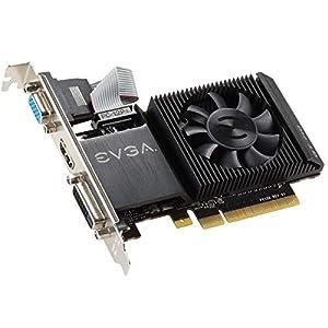 EVGA GT 710 2GB DDR3 64-Bit Graphics Card, Single Slot, Low Profile 02G-P3-2713-KR