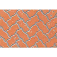 JTT Scenery Products Plastic Pattern Sheets: Interlocking Paving, 9.5mm